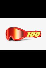 100% 100% Goggle Accuri Youth Saarinen Mirror Red Lens