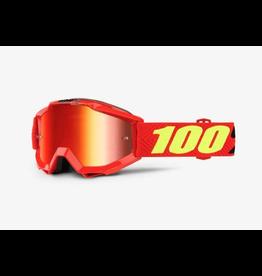 100% 100% Accuri Goggle Youth Saarinen Mirror Red Lens