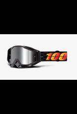 100% 100% Goggles Racecraft+ Costume Silver Flash Mirror