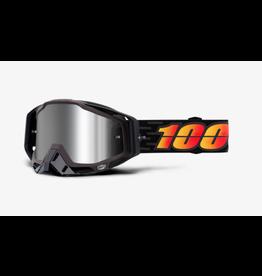 100% 100% Goggle Racecraft+ Costume Silver Flash Mirror