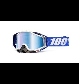 100% 100% Goggle Racecraft Cobalt Blue/Mirror Blue
