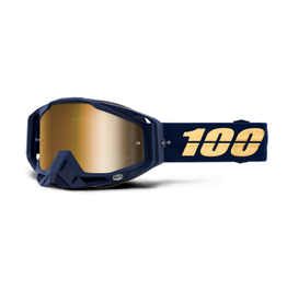 100% 100% Goggle Racecraft Bakken/Mirror True Gold