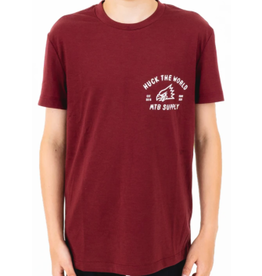 Huck The World Huck The World Youth Gong MTB SS Tech Tee Maroon