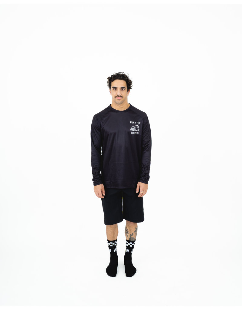Huck The World Huck The World Jersey L/S Eagle Black