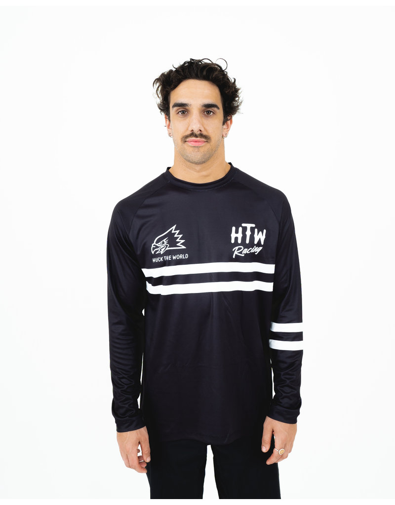 Huck The World Huck The World Race Jersey L/S Black