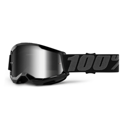 100% 100% Goggle Youth Strata 2 Black / Silver Mirror