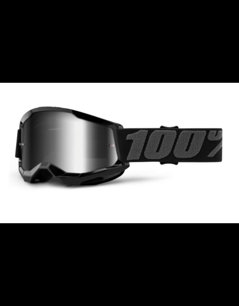 100% 100% Goggle Youth Strata 2 Black / Silver Mirror