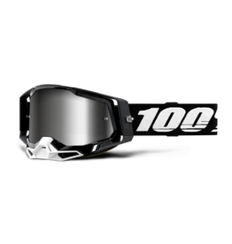 100% 100% Goggle Racecraft 2 Black / Silver Mirror