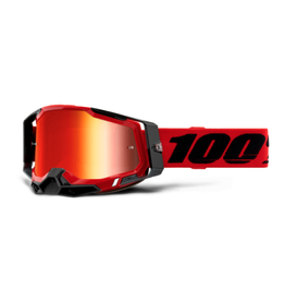 100% 100% Goggle Racecraft 2 Red / Red Mirror
