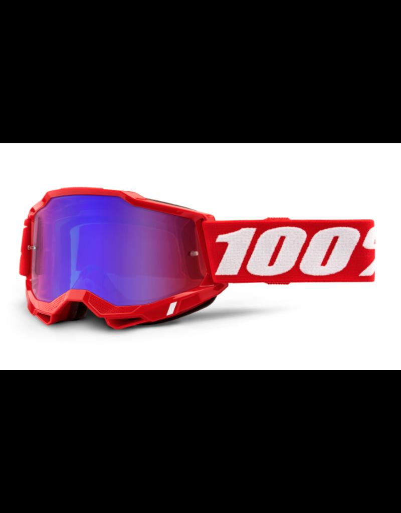 100% 100% Goggle Accuri 2 Red / Mirror Red/Blue