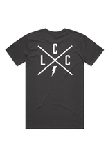 Local Cycle Co Local Cycle Co Tee Lightning Charcoal