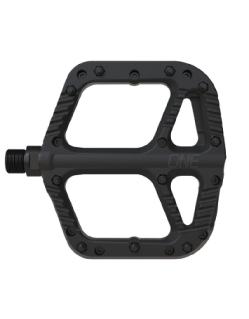One Up Flat Pedal Composite Black