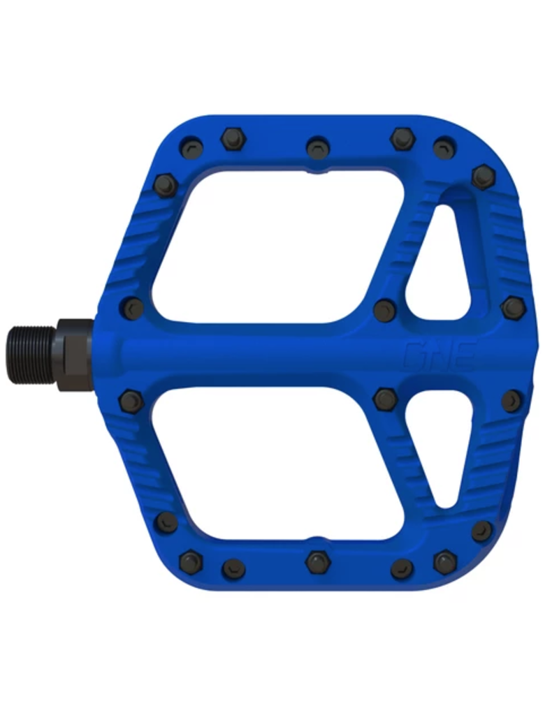 One Up Flat Pedal Composite Blue