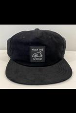 Huck The World Huck The World Eagle Cord Hat Black