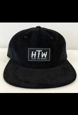 Huck The World Huck The World Logo Cord Hat Black