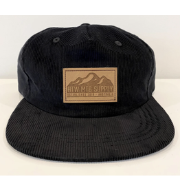 Huck The World Huck The World Mountains Cord Hat Black