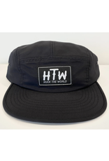 Huck The World Huck The World Logo Nylon 5 Panel Black