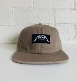 Huck The World Huck The World Metal Dad Cap Tan