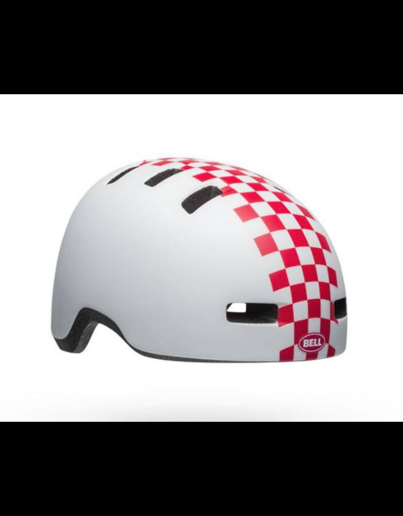 Bell Bell Helmet Lil Ripper Checkers Matt White/Pink UT
