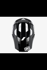 100% 100% Helmet Trajecta Black/White
