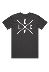 Local Cycle Co Local Cycle Co Youth Tee Lightning Charcoal