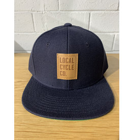 Local Cycle Co Local Cycle Co Leather Patch Snap Back Navy