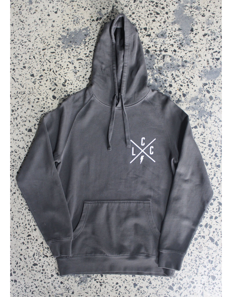 Local Cycle Co Local Cycle Co Lightning Hoodie Washed Black