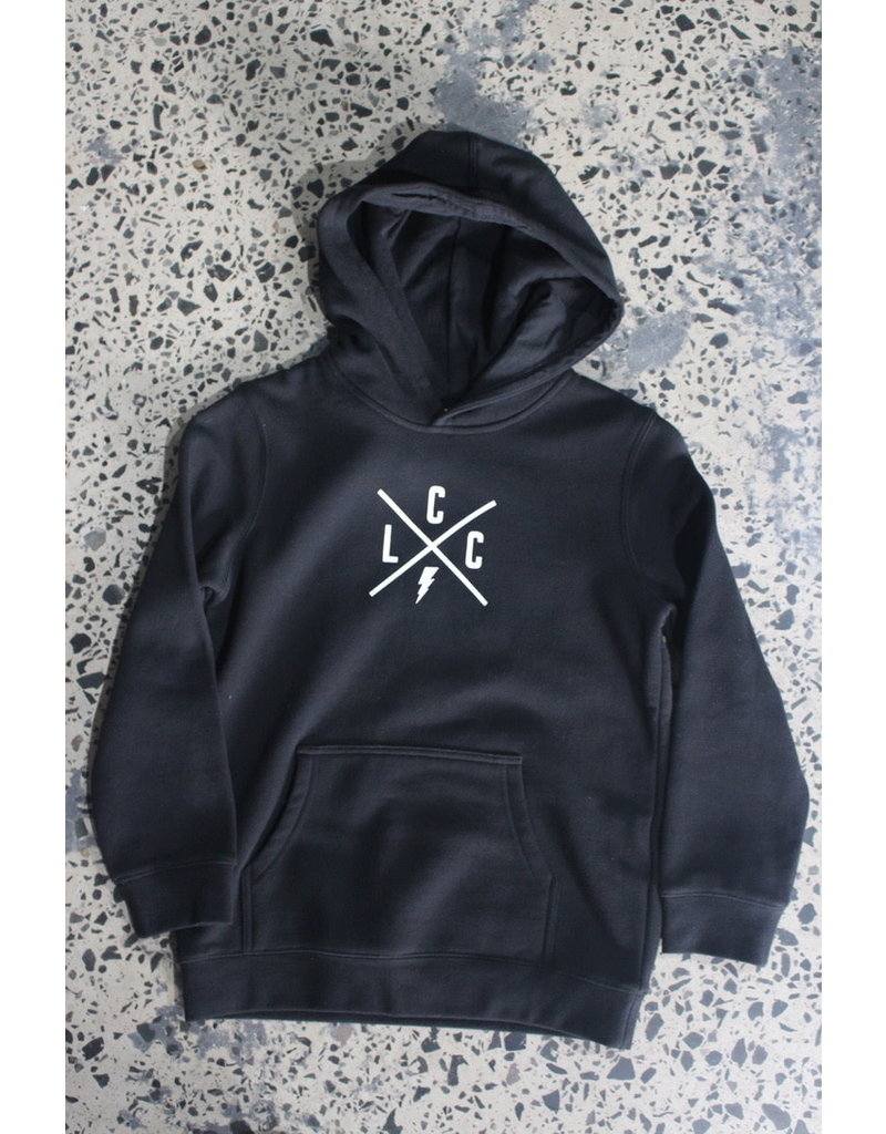 Local Cycle Co Local Cycle Co Youth Hoodie Lightning Black