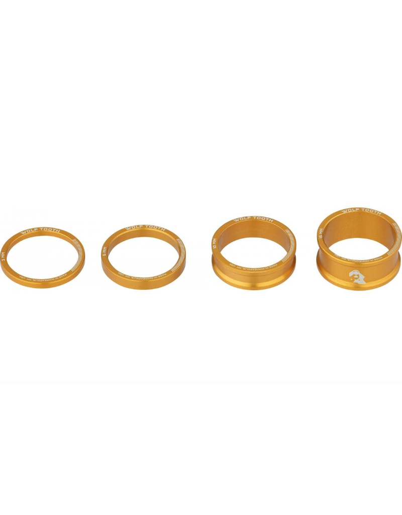 Wolf Tooth Wolf Tooth Precision Headset Spacer Kit Gold