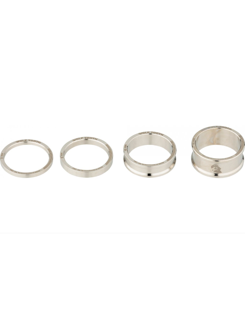 Wolf Tooth Wolf Tooth Precision Headset Spacer Kit Nickel