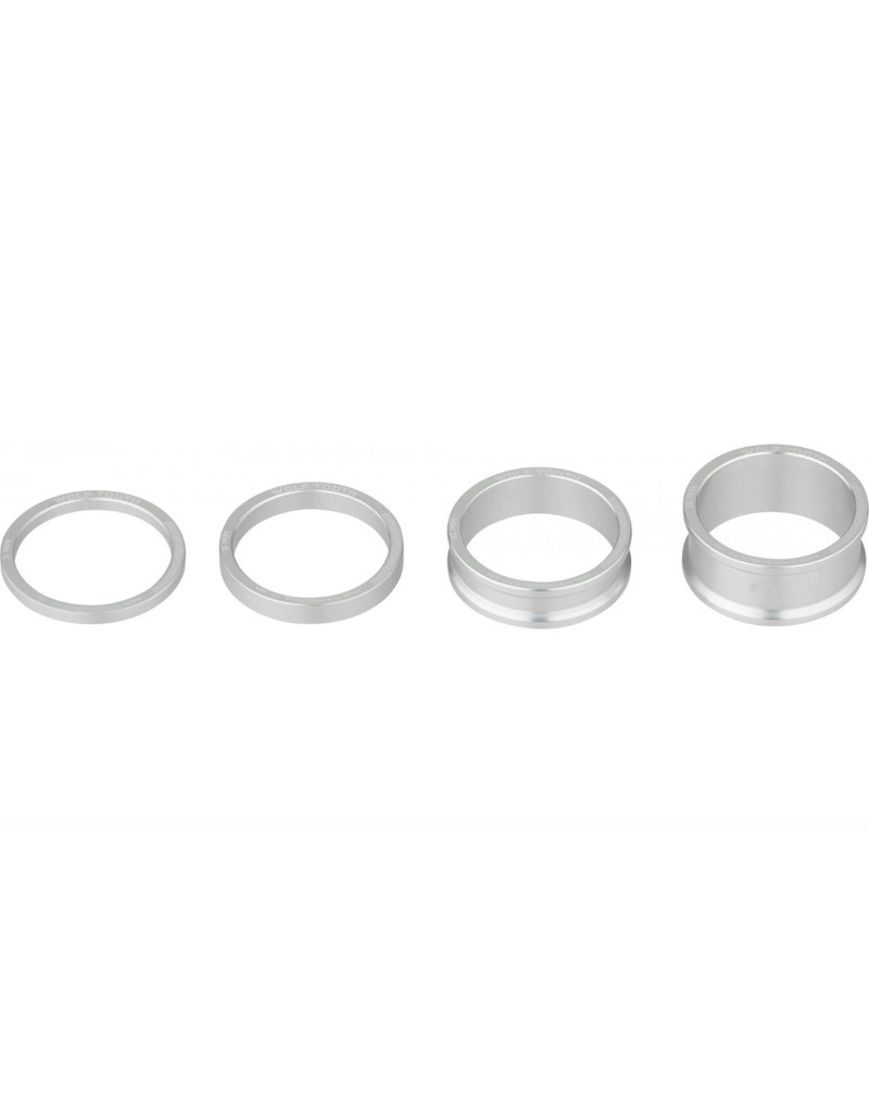 Wolf Tooth Wolf Tooth Precision Headset Spacer Kit Silver