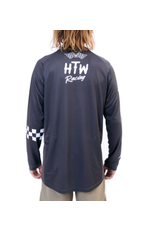 Huck The World Huck The World Checkers L/S Jersey Slate
