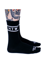 Huck The World Huck The World Double Stripe Sock Black