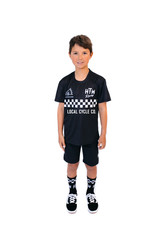 Huck The World Huck The World Checkers S/S Jersey Youth Black