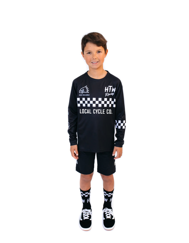 Huck The World Huck The World x LCC Checkers L/S Jersey Youth Black