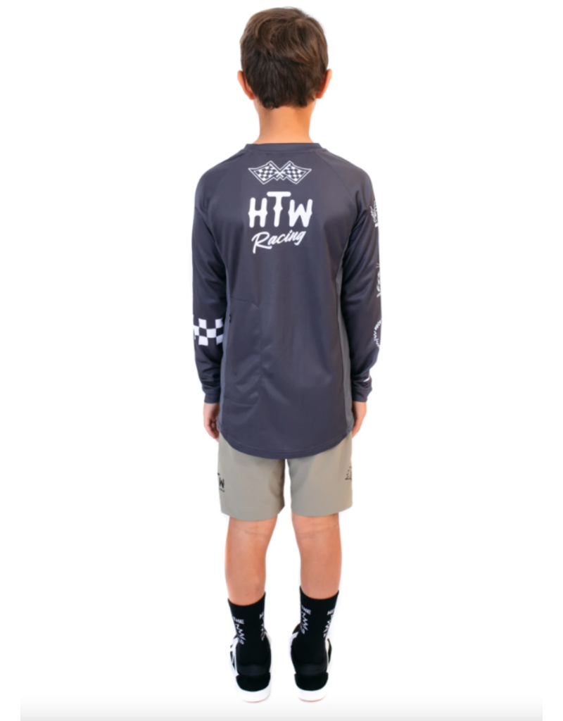 Huck The World Huck The World Checkers L/S Jersey Youth Slate