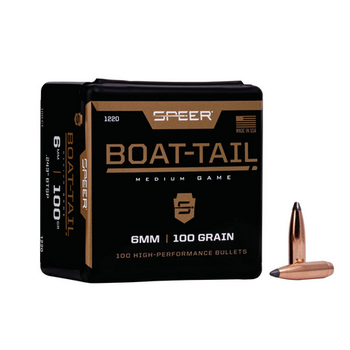SPEER 6MM BOAT TAIL 100GR 100CT