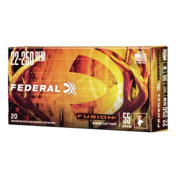 FEDERAL FUSION 22-250 55GR