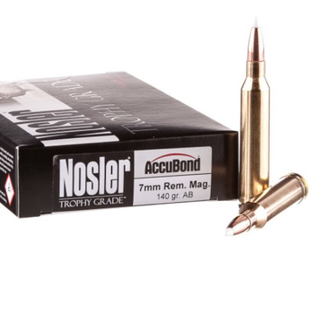 NOSLER 7MM REM 140GR CUSTOM ACCUBOND