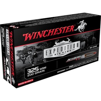 WINCHESTER 325 WSM 200GR EXPEDITION CUSTOM ACCUBOND
