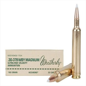 WEATHERBY 30-378 WBY MAG 180GR ACCUBOND
