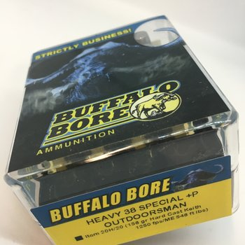 BUFFALO BORE 38 SPC 158GR HARD CAST