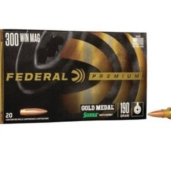 FEDERAL 300 WIN 190GR MATCHKING BTHP GOLD MEDAL MATCH