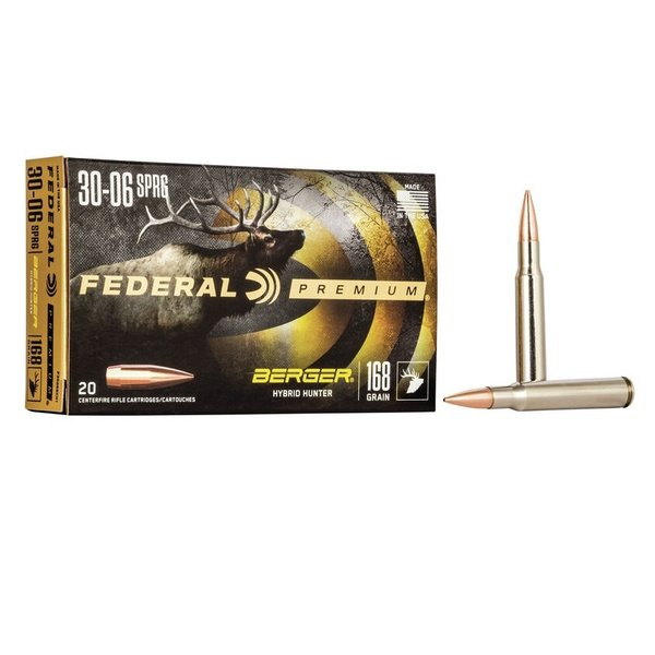FEDERAL 30-06 168GR BERGER HYBRID HUNTER