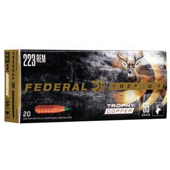 FEDERAL 223 REM 55GR TROPHY COPPER AMMO