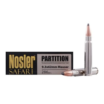 NOSLER 9.3X62MM MAUSER 286GR PARTITION