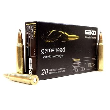 SAKO 22-250 55GR 110G GAMEHEAD