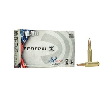 FEDERAL 7MM-08 REM 150GR SP NONTYPICAL WHITETAIL 20CT