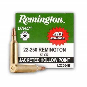 REMINGTON 22-250 50GR HP 40 ROUNDS
