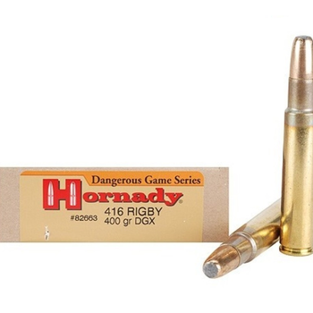 HORNADY 416 RIGBY 400GR DGX
